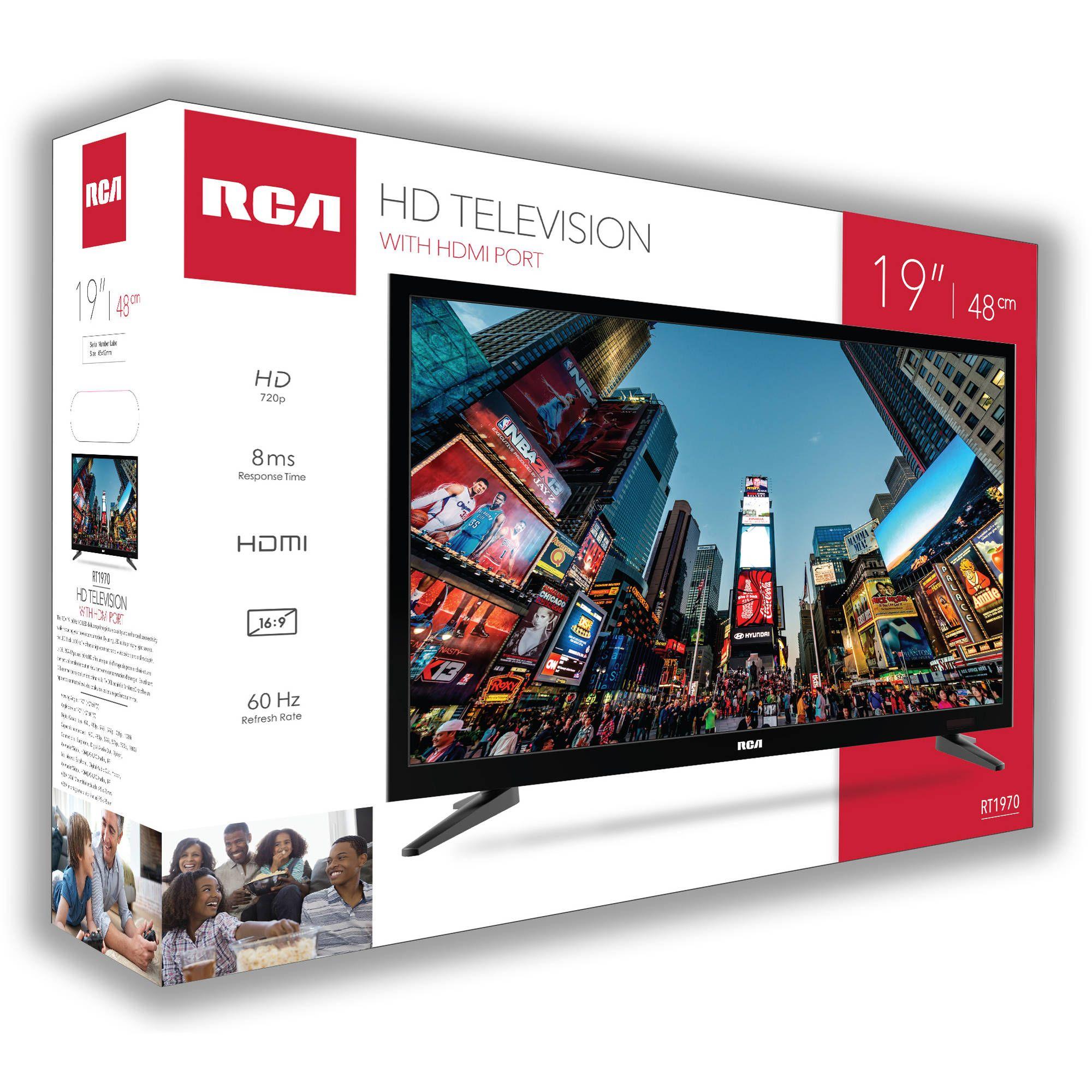 Rca 19 Class Hd 720p Led Tv Rt1970 Walmart Com Led Tv Hdmi Rca