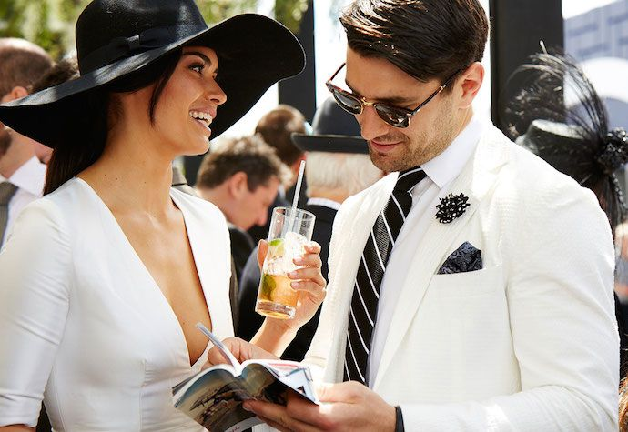 Black White Derby Day Couples Outfit Kentucky Derby Mens