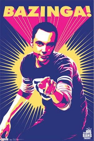 Sheldon Cooper The Big Bang Theory Inspired Novelty Fridge Magnet Bazinga