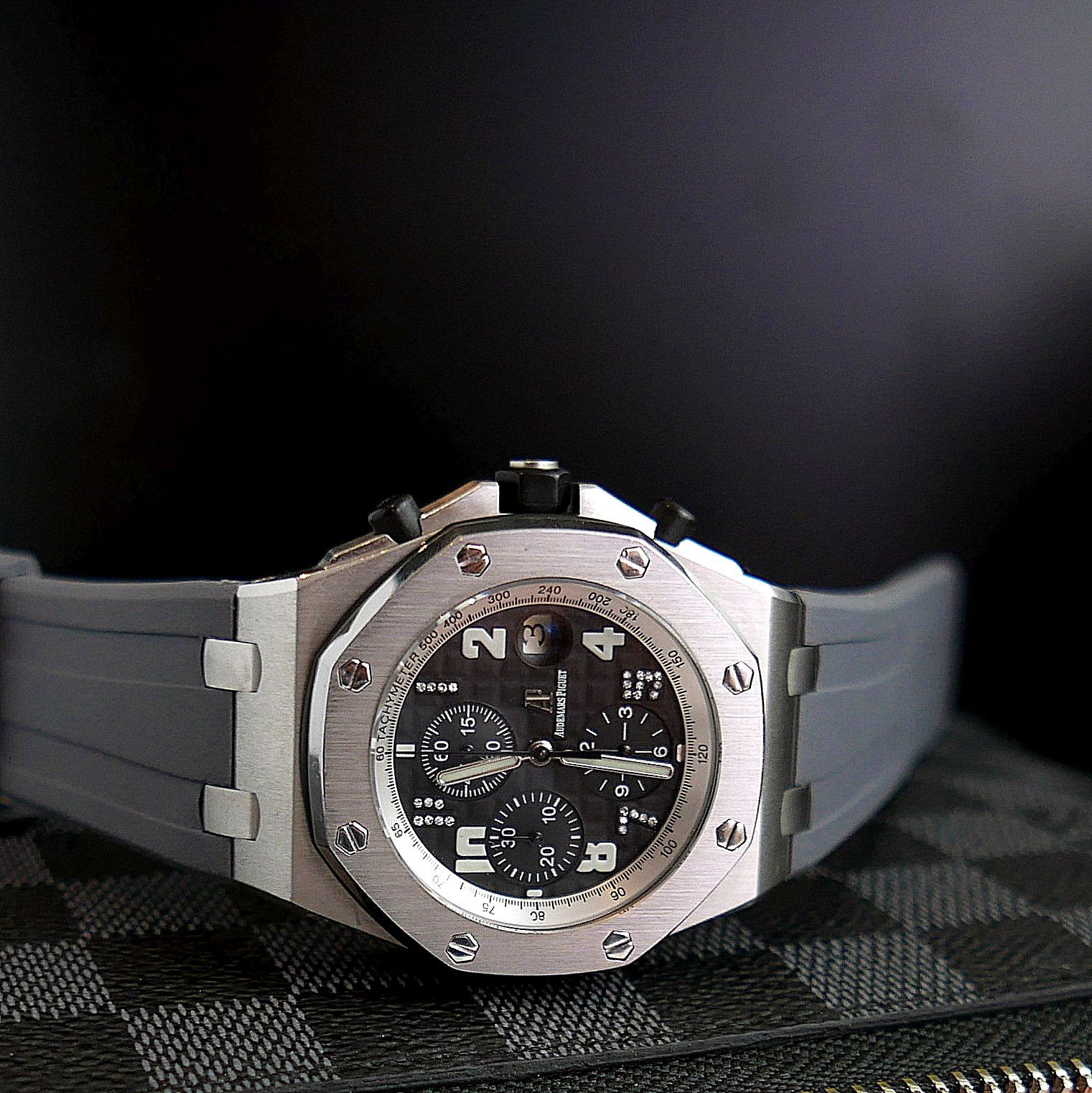 Audemars Piguet Grey Rubber Strap Audemars Piguet Piguet Luxury Watches For Men