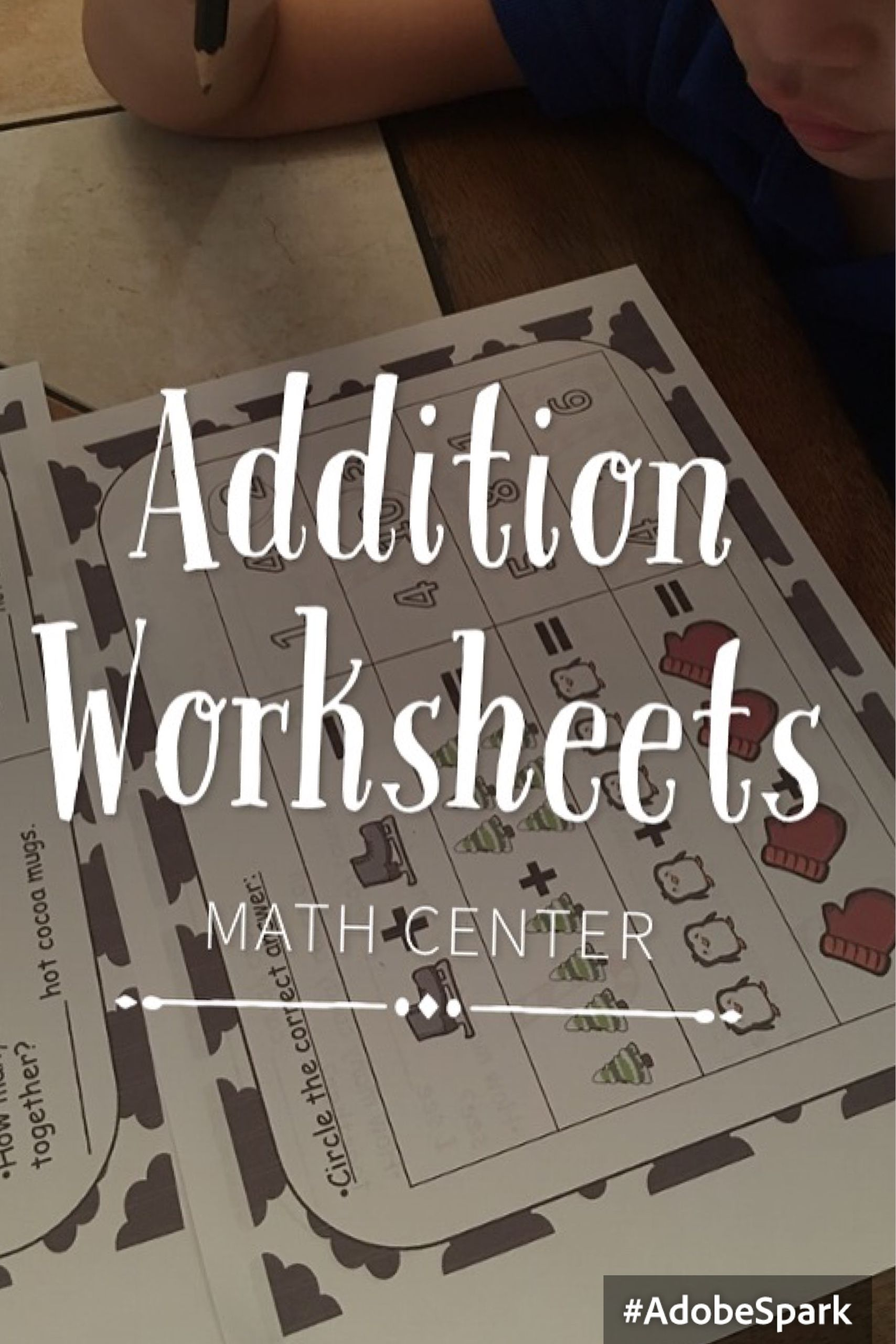 Addition Math Worksheets Math Centers