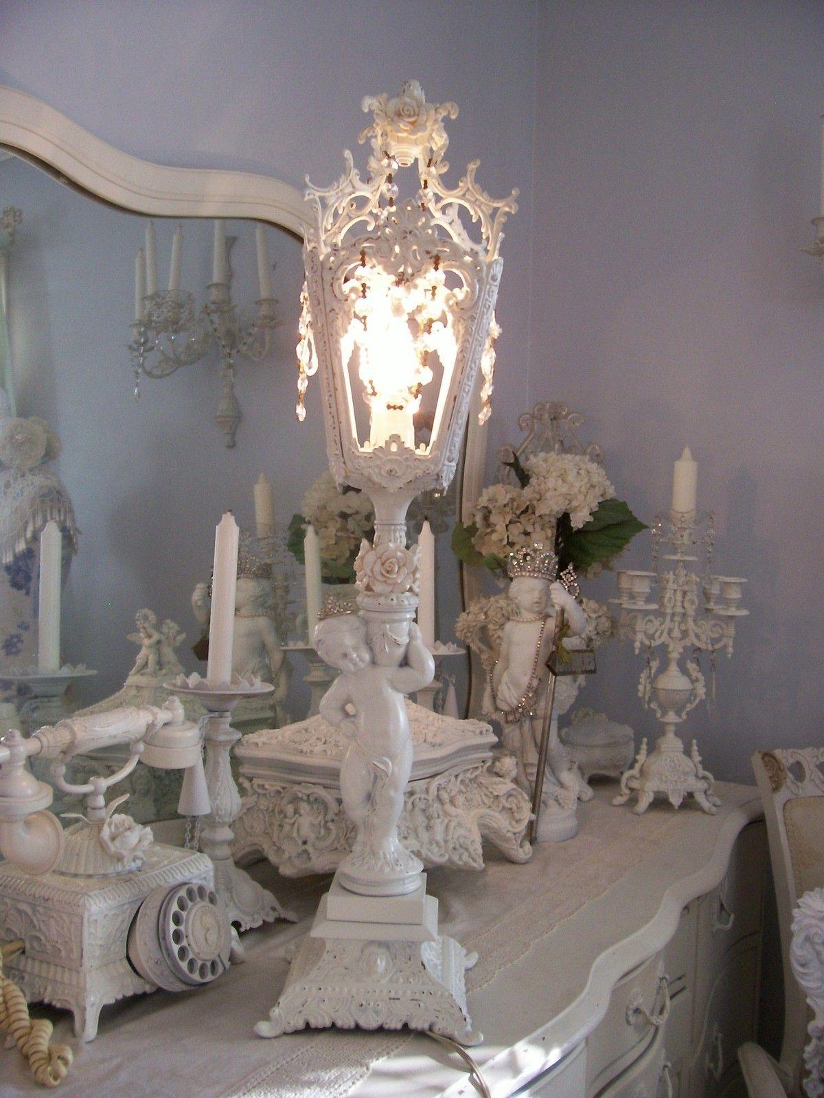 The best shabby vintage cherub lamp w beaded bulb cover roses shabby vintage cherub lamp love this pic arubaitofo Gallery