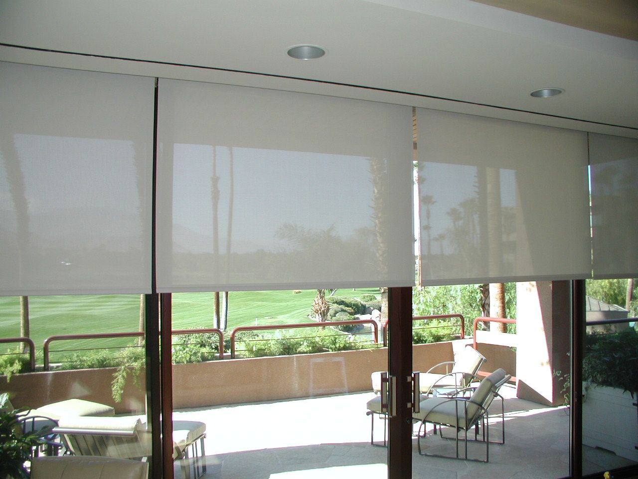 Top roll up shades for your home drapery room ideas for Best sliding glass doors