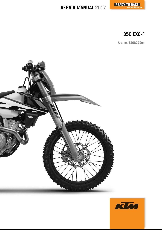 medium resolution of 2017 ktm 350 exc f xcf w service repair manual