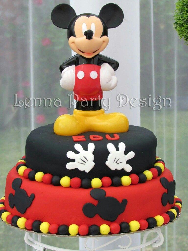 Torta Mickey Tortas Pinterest Mickey Mouse Birthday Cake