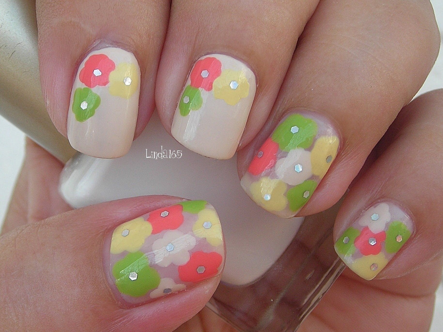 Nail Art Think Spring Flowers Decoracion De Uas Uas