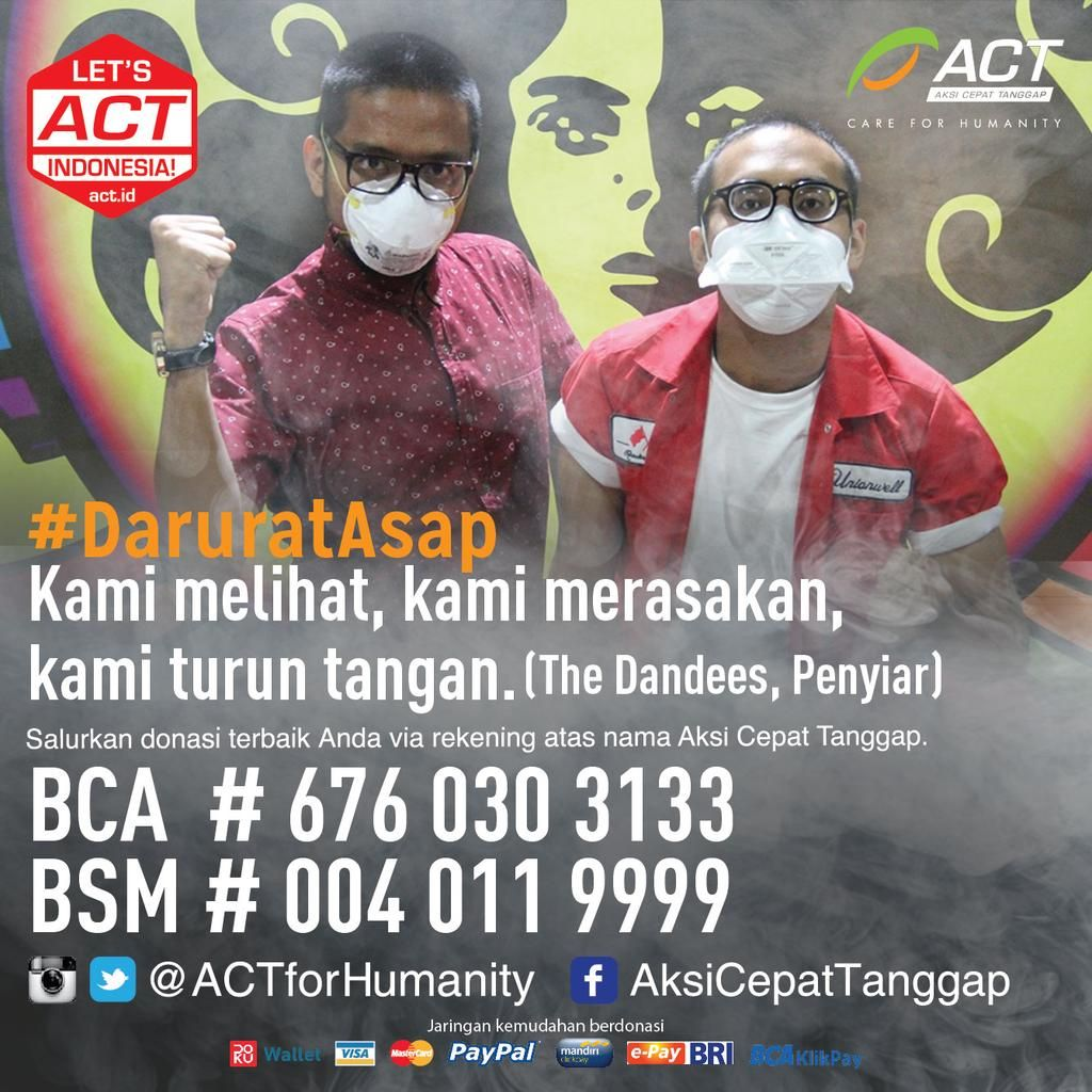 .@imamdarto & @danangpostman mengajak Indonesia untuk menyelamatkan saudara sebangsa terdampak asap!  #DaruratAsap