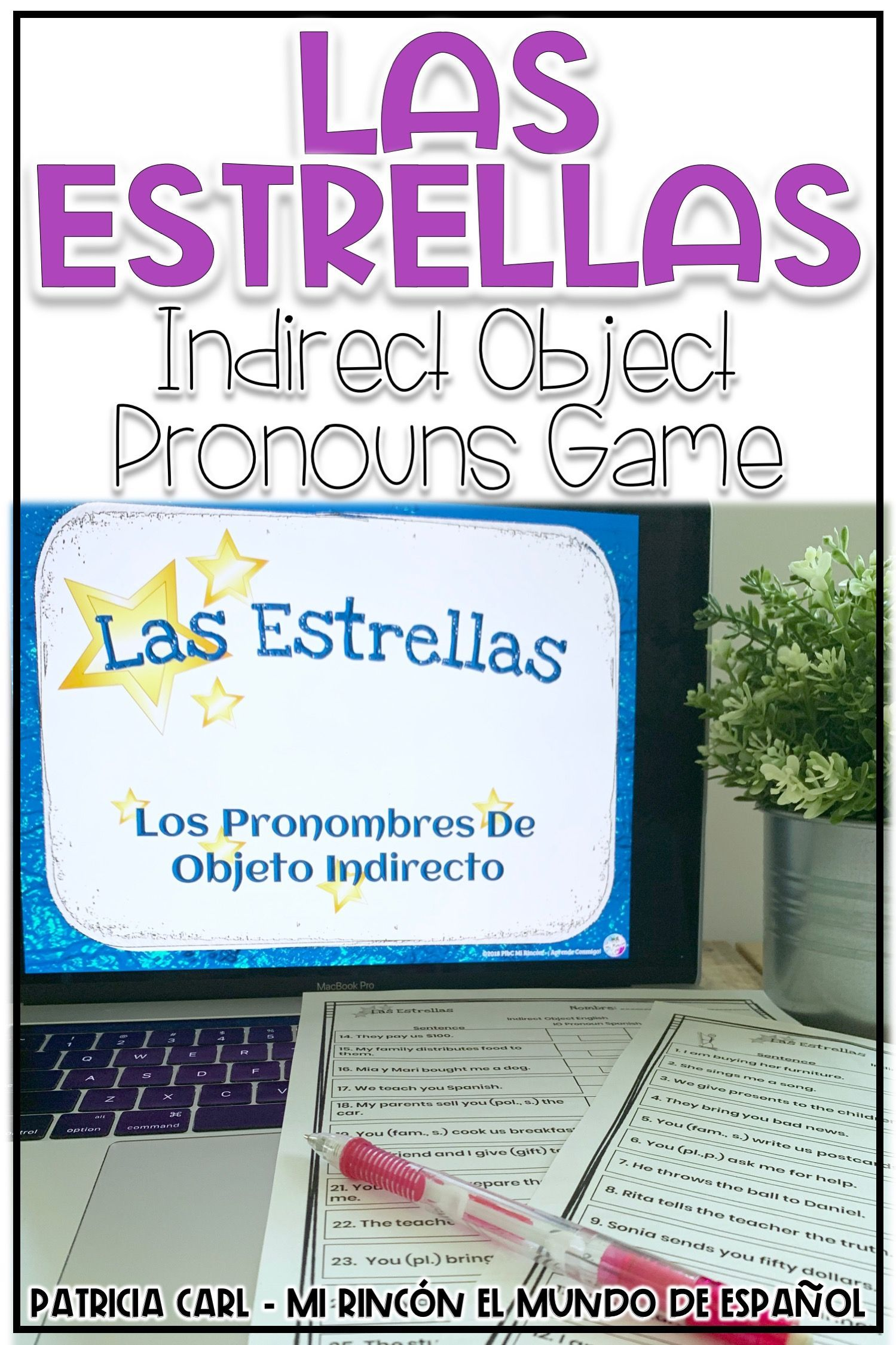 Spanish Indirect Object Pronouns Game Las Estrellas With