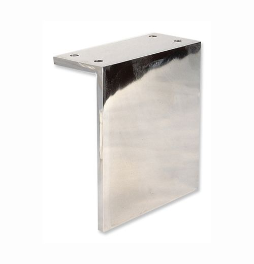 Angled Metal Legs In 1 4 Thick Stainless Steel X 5 H Polished Finish Bottom Edges Are Rounded To Protect Floors Stainless Steel Metal Steel Metal Furniture