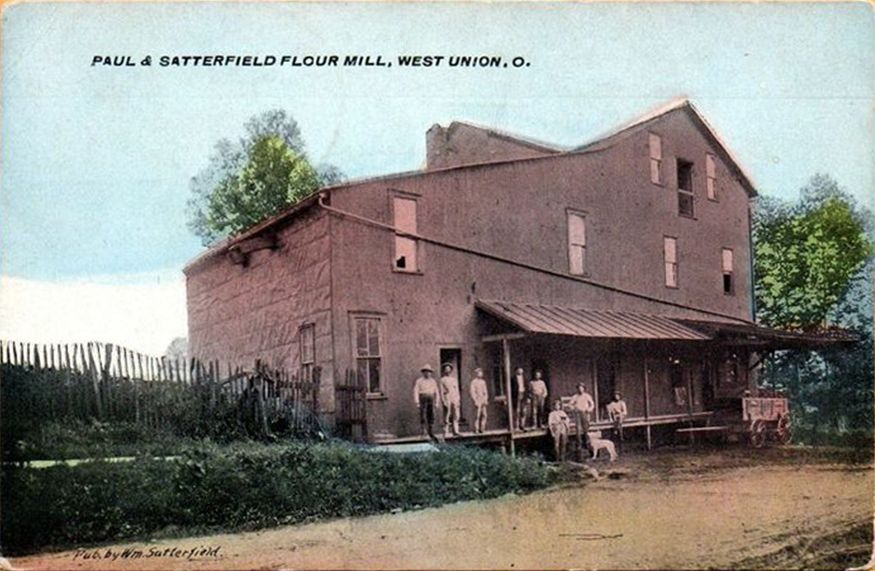 West Union Oh Paul Satterfield Flour Mill Delivery Wagon Adams County Postcard Published By William Satterfield West Union Adams County House Styles