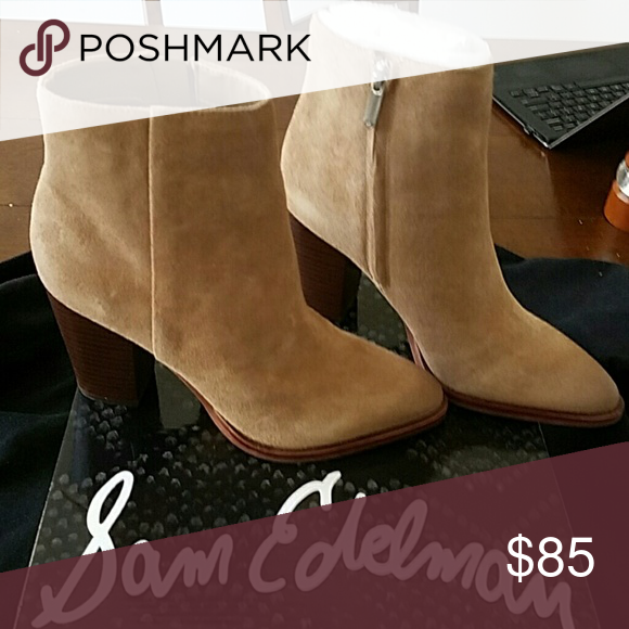 d6d134a8c794e Sam Edelman Blake Bootie Brand New Beautiful Suede booties in Oatmeal Sam  Edelman Shoes Ankle Boots   Booties