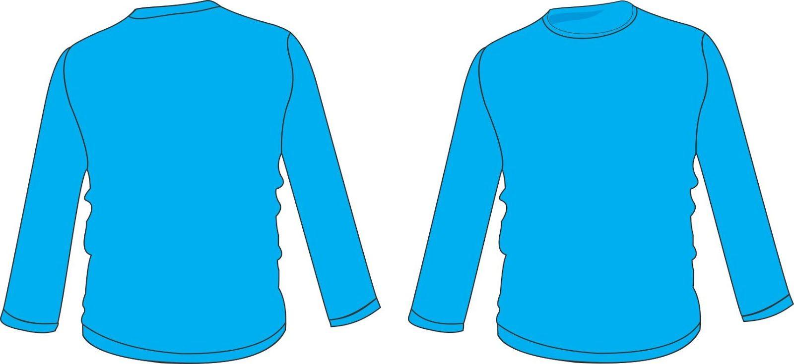 Gambar Kaos Polos Lengan Panjang Leher V Bagian
