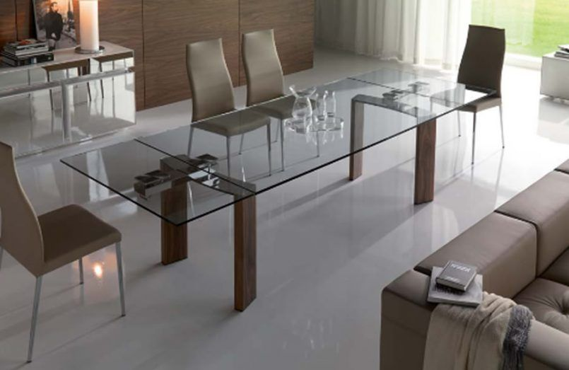 Dining Room Expandable Glass Dining Room Tables Contemporary Dining Interesting Expandable Glass Dining Room Tables