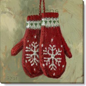 Christmas Mittens Painting By Darren Gygi Home Collection