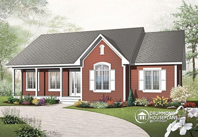 Discover The Plan 2185 V2 Avram 3 Which Will Please You For Its 3 Bedrooms And For Its Country Styles Country Style House Plans Bungalow House Plans Empty Nester House Plans