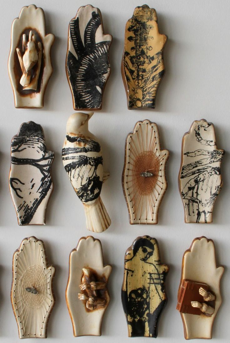Doug baulos detail printed ceramics on exhibit at clay