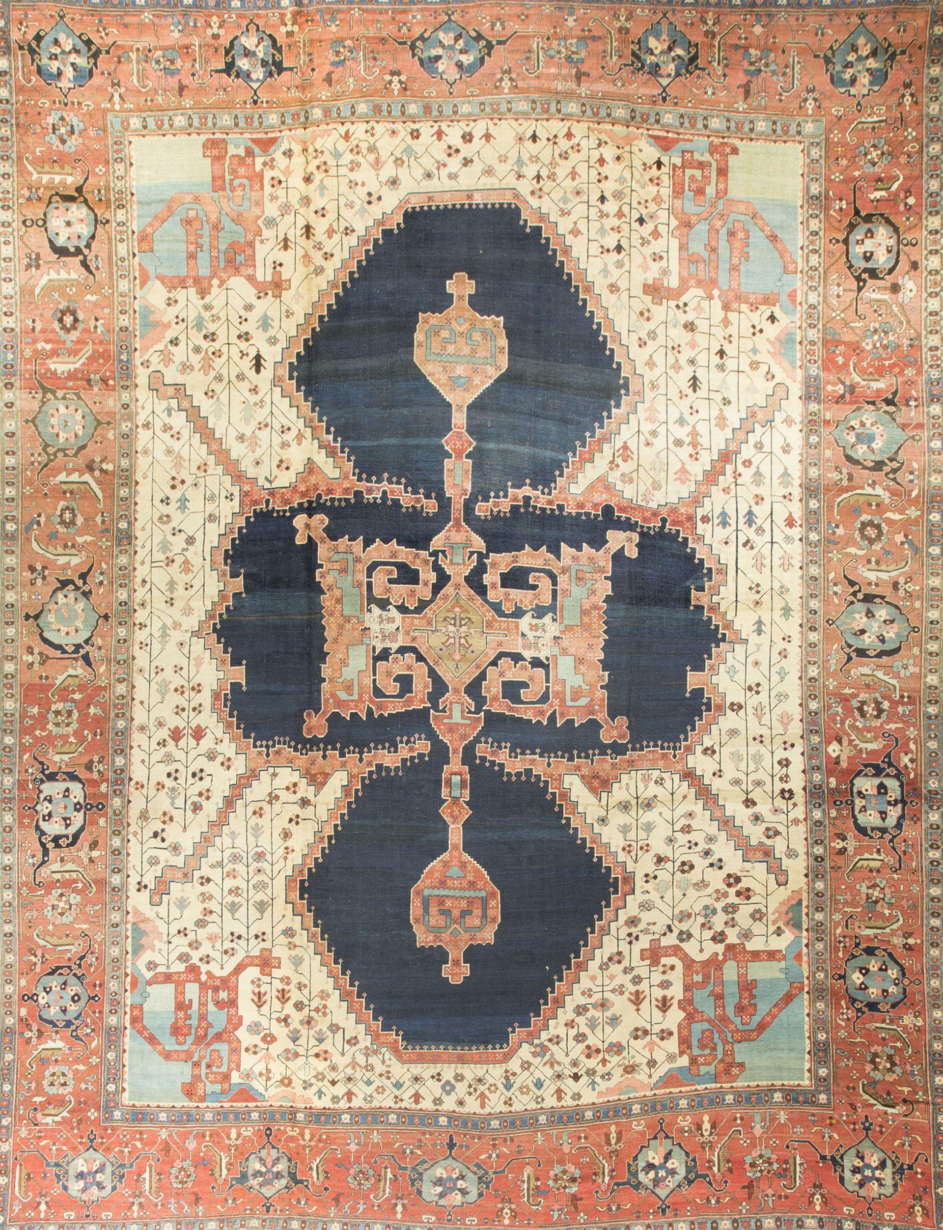 Antique Heriz Serapi Rug Circa 1890 15 10 X 20 In 2019 Persian