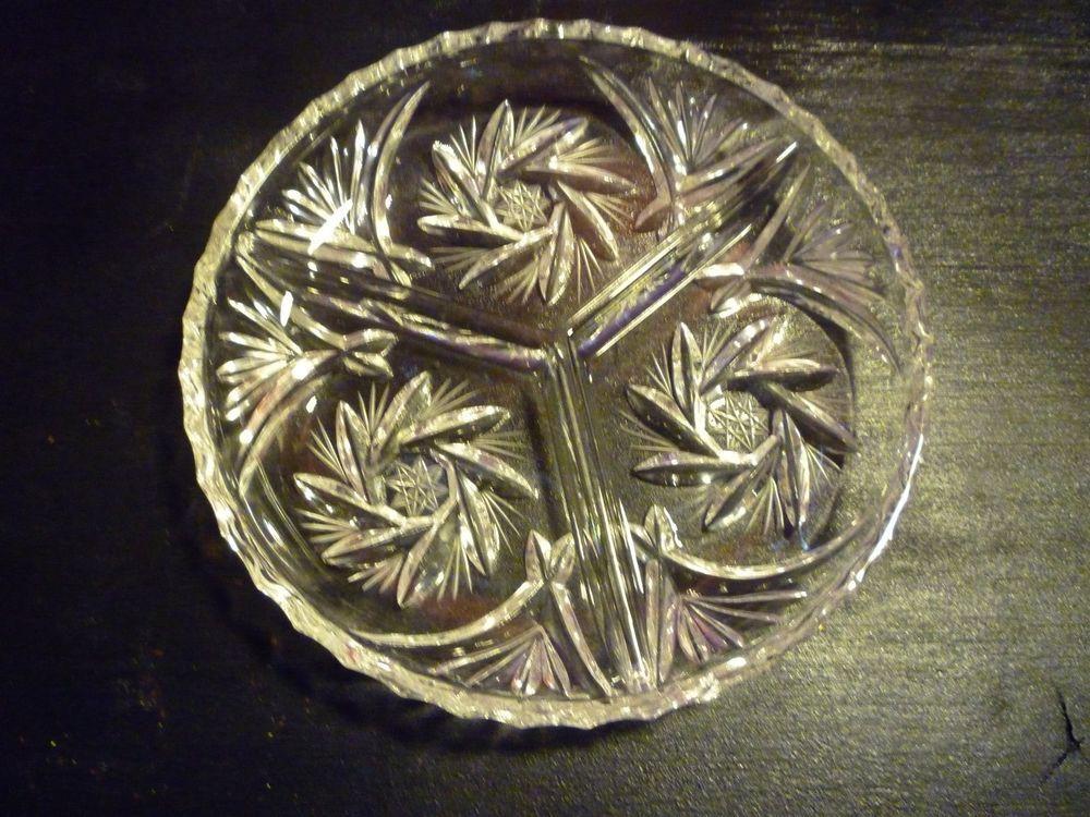 Antique+Pressed+Glass+Victorian+triple+divided+relish+dish+artCut++Design+#antique