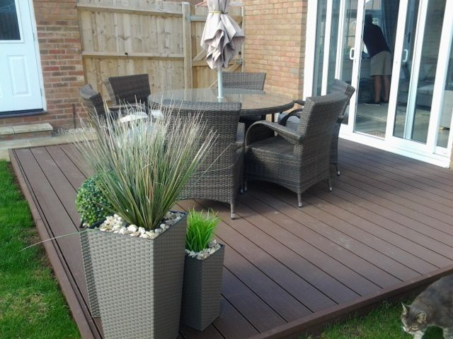 cladco wpc coffee decking boards look great with garden furniture wwwwpc decking