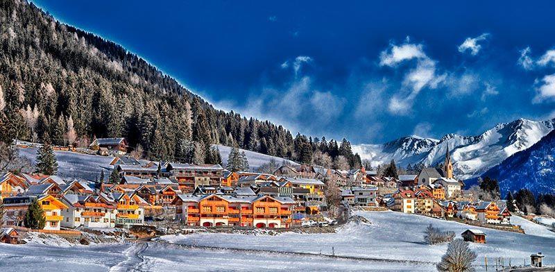 Fondo Escritorio Paisaje Bonita Nevada: Paisajes-bonitos-de-invierno-pueblo-nieve-2