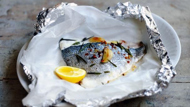 How to cook sea bream with garlic and rosemary recipe garlic bbc food recipes how to cook sea bream with garlic and rosemary forumfinder Images