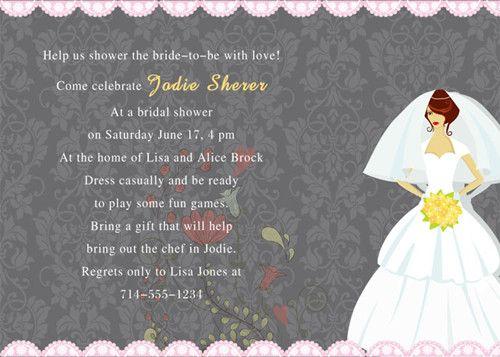 bridal shower party invitations read more wwwelegantweddinginvitescomspecial wednesdaybridal shower invitation wording samples