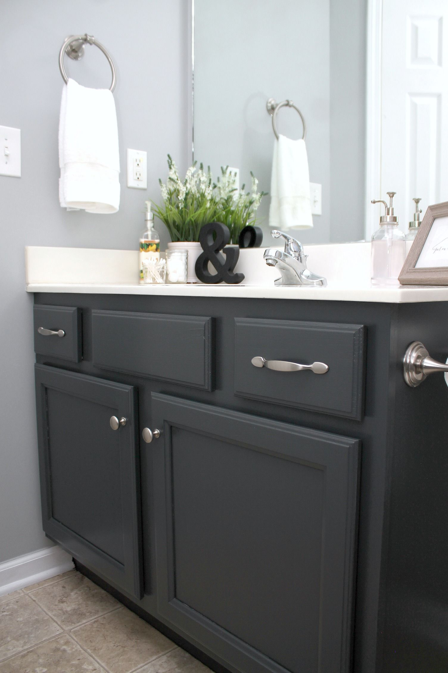 painting bathroom cabinet. Wanting To Update Your Bathroom? Painting Bathroom Cabinets Is A Budget Friendly Way! I Show You An Easy Method Painted That Cabinet