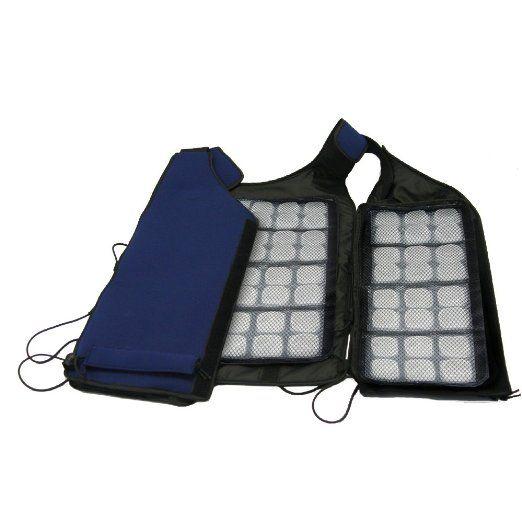 Amazon Com Flexi Freeze Ice Vest Navy Outerwear Vests