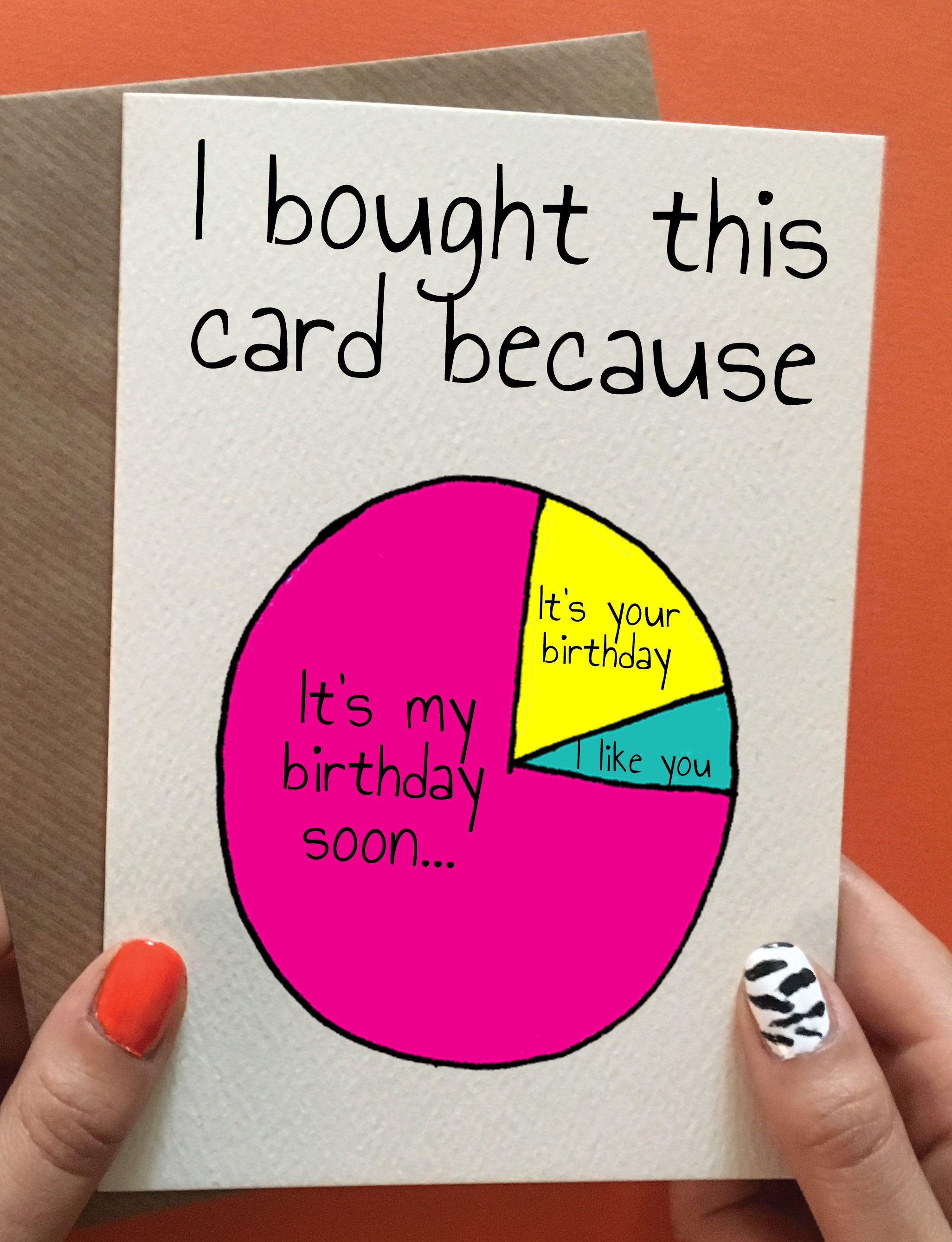 Funny Birthday Card Hilarious And Cheeky Handmade Birthday Card For Friend Birthday Cards For Friends Birthday Cards Funny Birthday Cards