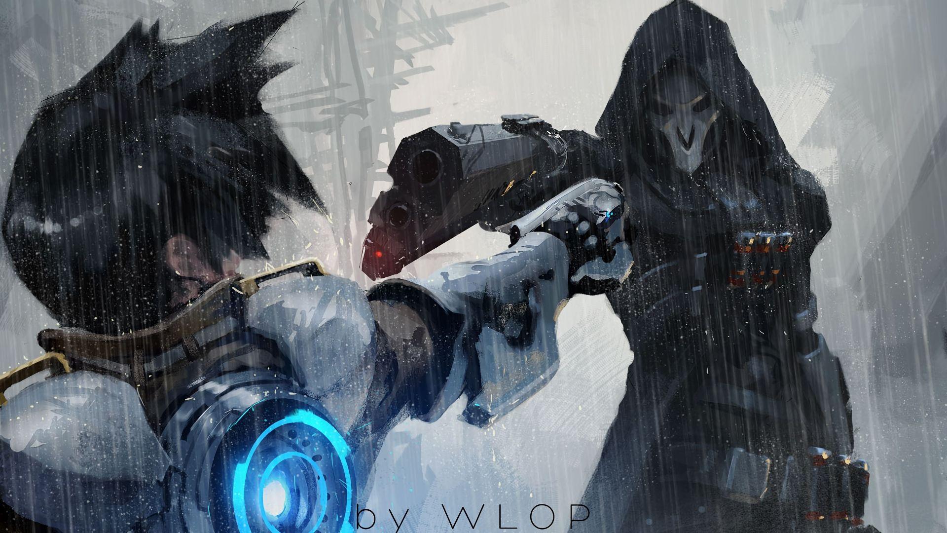 Tracer Vs Reaper Overwatch 1920x1080 Wallpaper En 2019