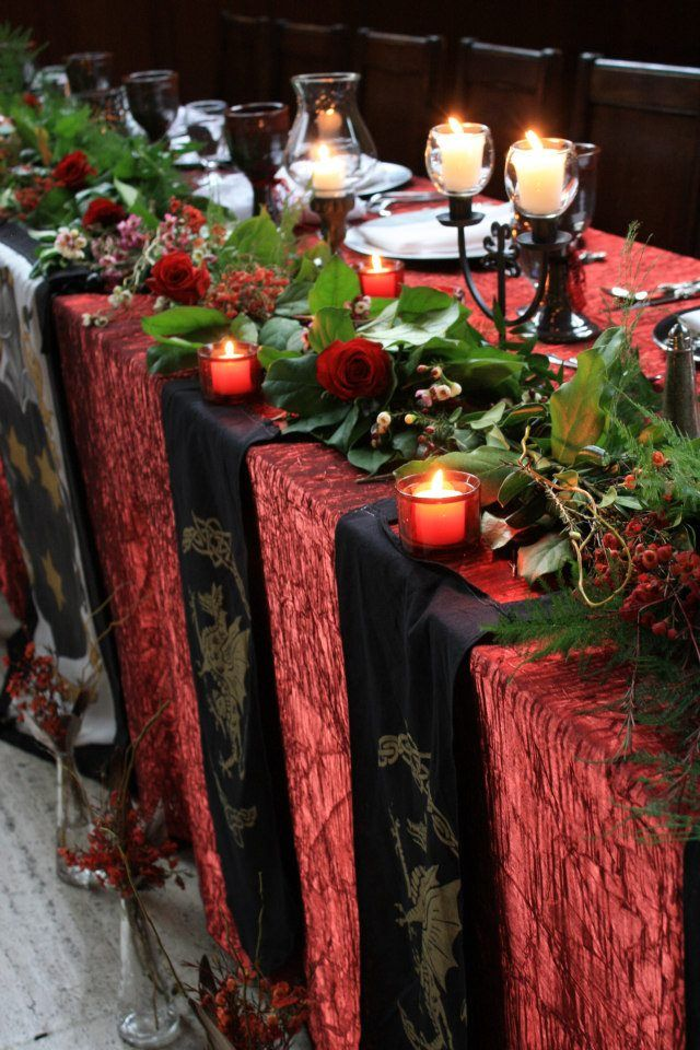 A royal medieval wedding | Wedding table decorations ...