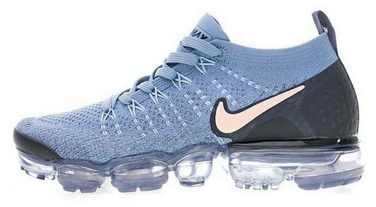the latest 1973b 6a57e Nike Air Vapormax 2 Light Blue Pink Black 942843401 Cheap Sneaker