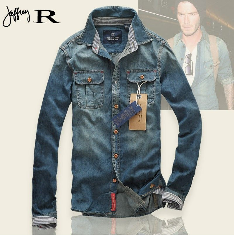 1000  images about Denim shirt on Pinterest | Men&39s denim Casual