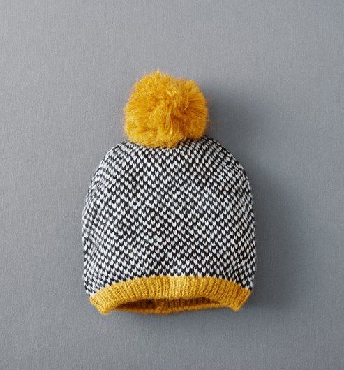 Graphic knit hat , Ochre , Women , Accessories , Promod