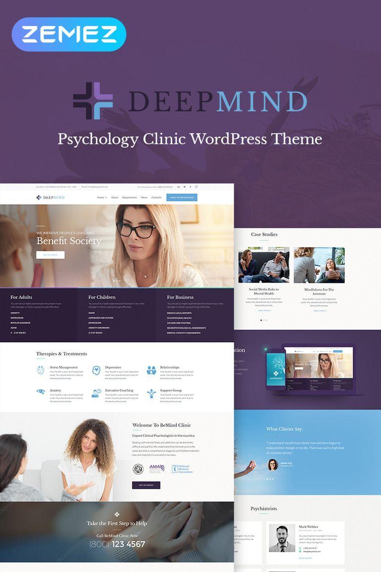 Deep Mind Psychology Clinic WordPress Theme 67951