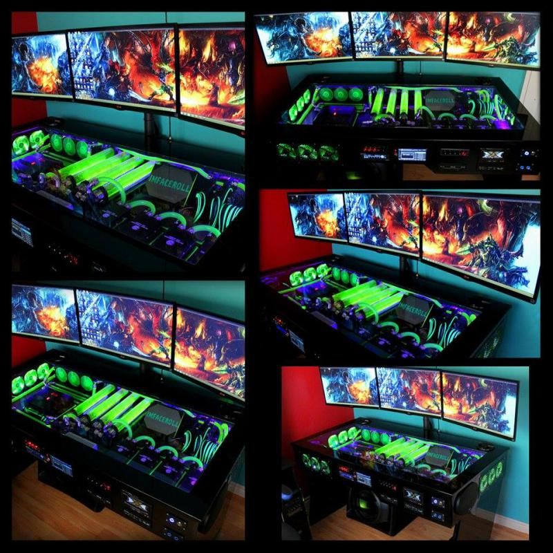 Scratch Build Water Cooled Pc Desk Mod With Built In Car Sound System Bit