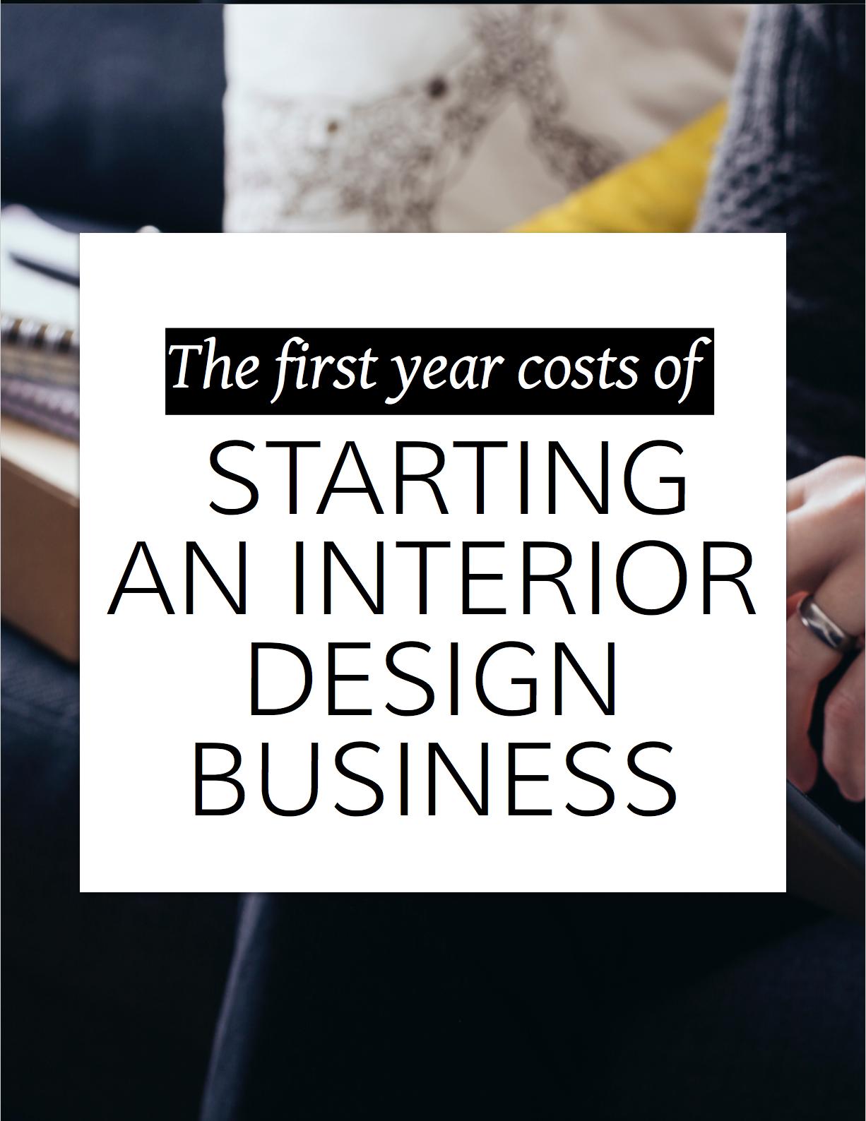Interior Design Business Start-up Costs | Interior design business ...
