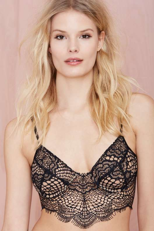 e73f8acaf1 SKIVVIES Bat Your Lashes Lace Bralette - Black Nude - For Love and Lemons