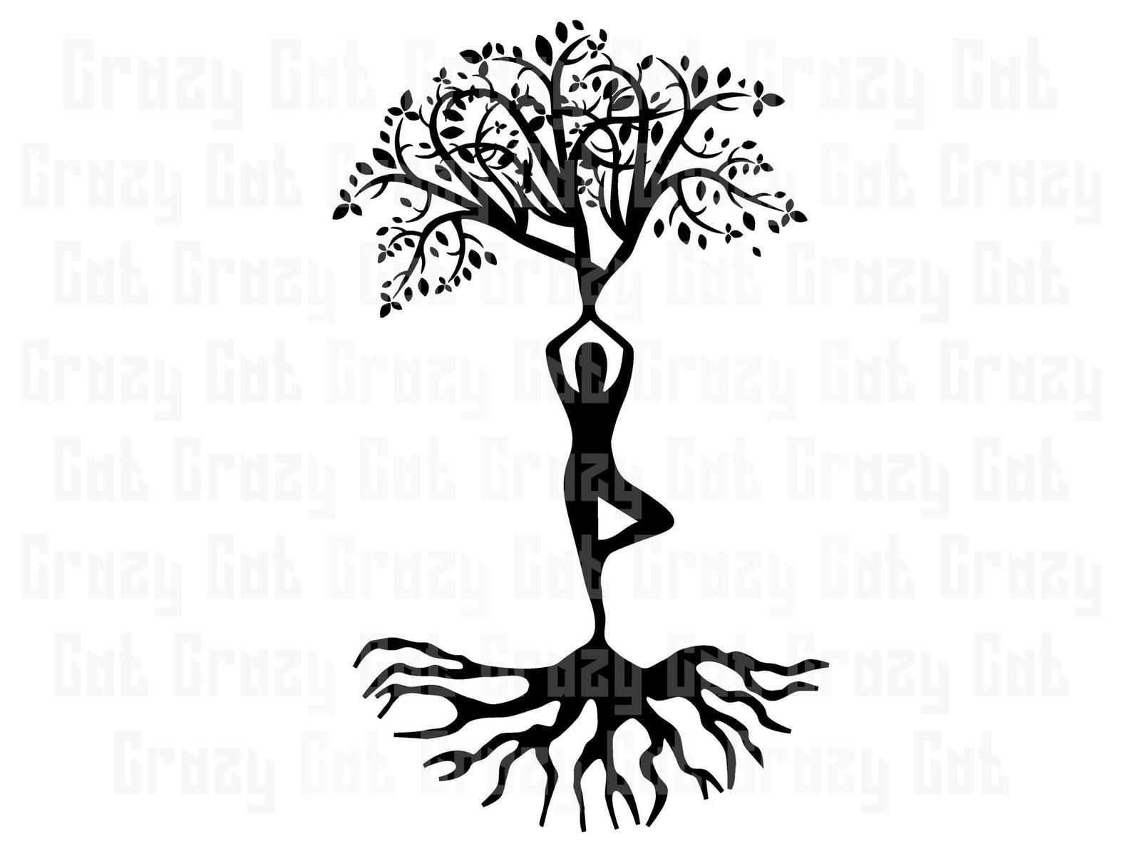 42+ Yoga Tree Dancer Svg/Dxf/Eps/Png/Jpg/Pdf PNG