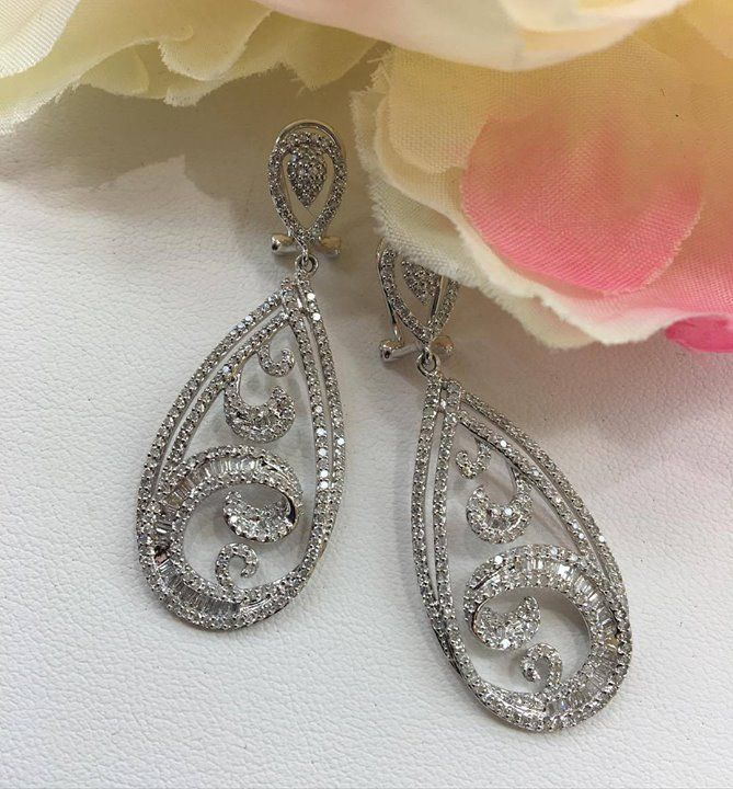 Still don't know what to get for Pesach? Here's a hint #buyjewelry  Gorgeous gold and diamond earrings! #realsparkle #whitegold #earrings #pesachspecial http://ift.tt/1S18cso