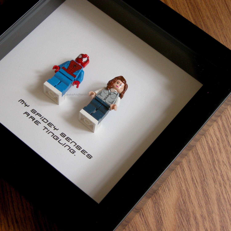 Lego Art Spiderman Wall Art Superhero Spiderman Mary Jane  # Muebles Bobrick