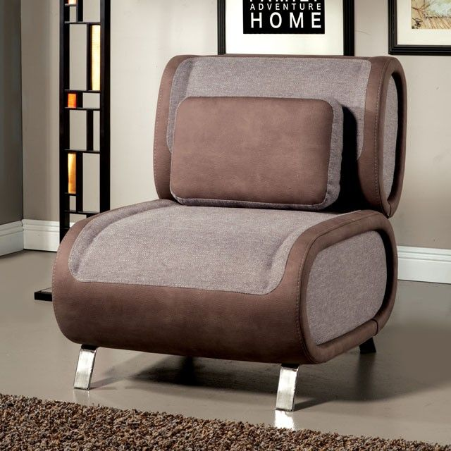 sku sm6074 armless chair two tone fabric accent pillow chrome legs
