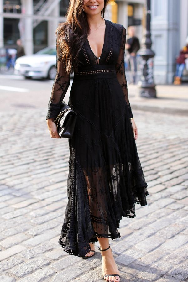 d11665bfbe3 Black lace Zimmermann dress.