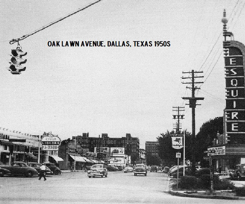 Oak Lawn Ave Dallas Texas 1950s Very Interesting Photo I Believe This Is Taken Just South Of Lemmon On Oak Lawn Looking Dallas Texas Texas History Dallas