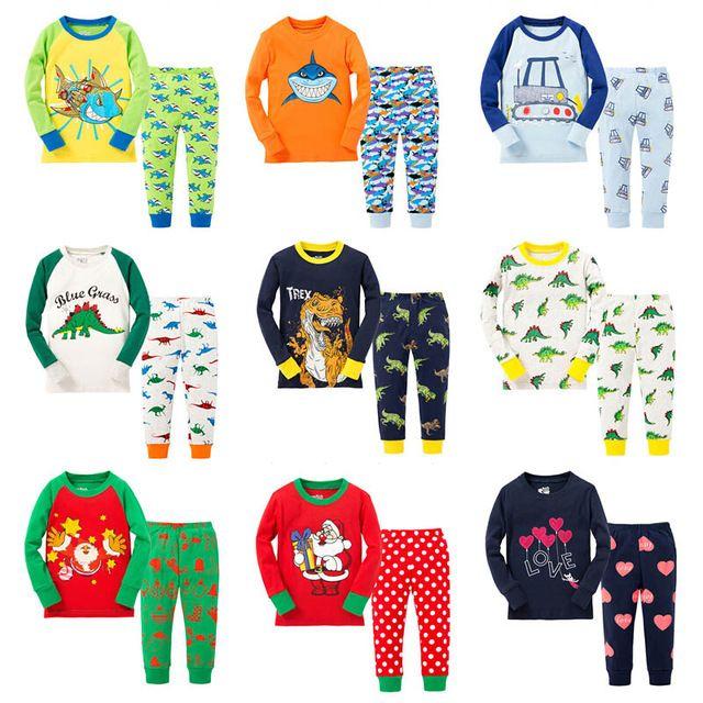 Boy Motorcycle Pajamas Suit Home Wear Casual Clothes Set Long Sleeve Sleepwear