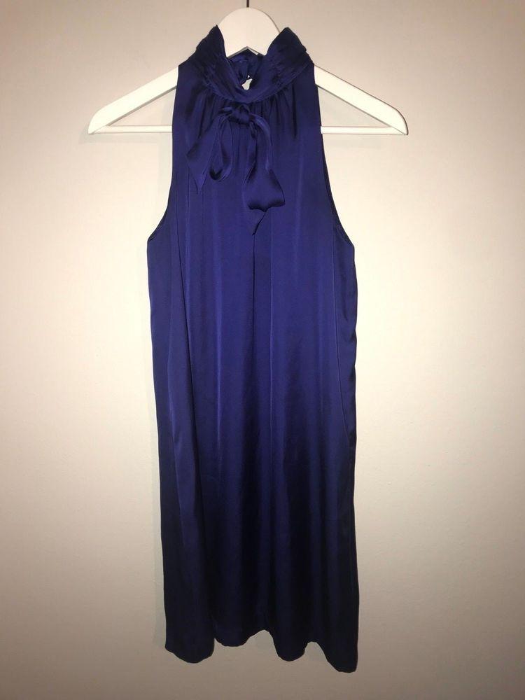 Women S Kensie Blue Purple High Neck Sleeveless Cocktail Dress