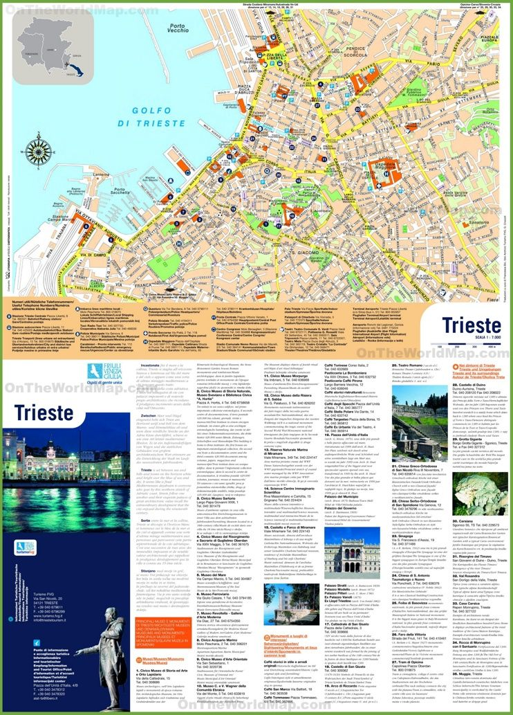 Trieste sightseeing map Maps Pinterest Trieste Italy and City