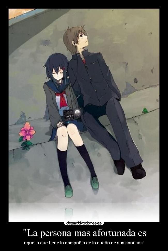 Carteles Anime Amor Desmotivaciones Anime Pinterest Anime