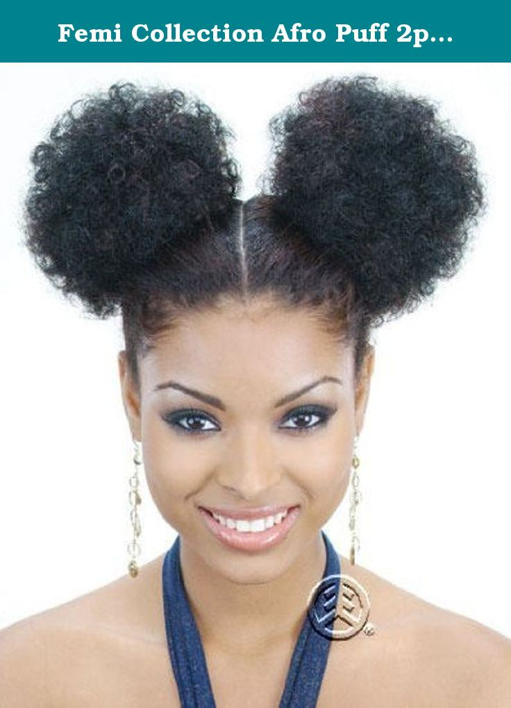 Femi Collection Afro Puff 2pc Color 1b Femi Collection Afro Puff