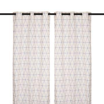 Navy Pluto Curtain Panel Set, 84 in.